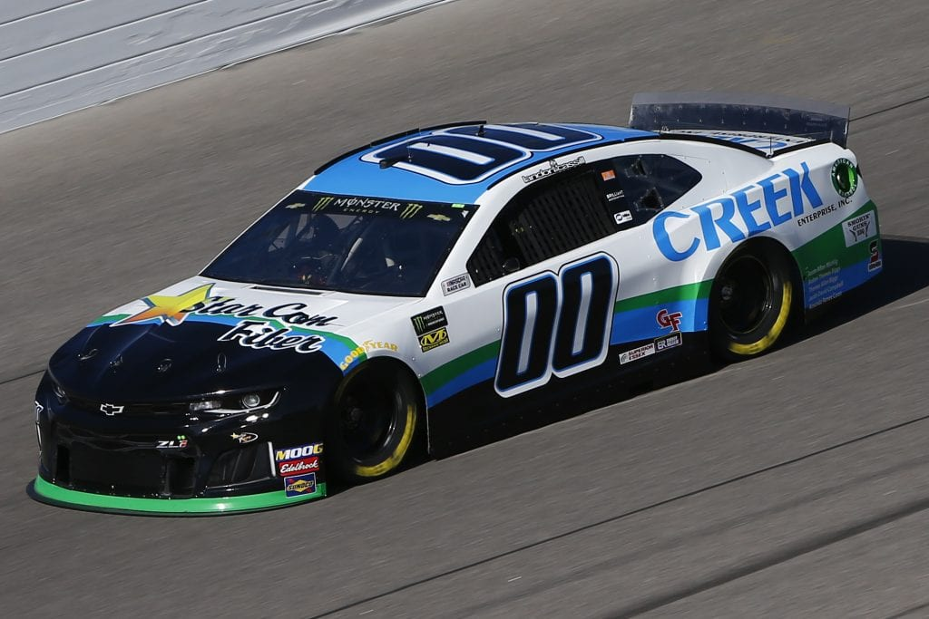 KANSAS CITY, KANSAS - OCTOBER 18: Landon Cassill, driver of the #00 Creek Enterprise Chevrolet, practices for the Monster Energy NASCAR Cup Series Hollywood Casino 400 at Kansas Speedway on October 18, 2019 in Kansas City, Kansas. (Photo by Jonathan Ferrey/Getty Images) | Getty Images