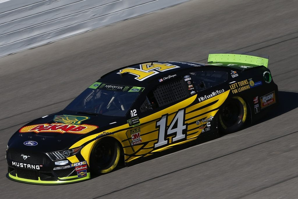 KANSAS CITY, KANSAS - OCTOBER 18: Clint Bowyer, driver of the #14 DEKALB Ford, practices for the Monster Energy NASCAR Cup Series Hollywood Casino 400 at Kansas Speedway on October 18, 2019 in Kansas City, Kansas. (Photo by Jonathan Ferrey/Getty Images) | Getty Images