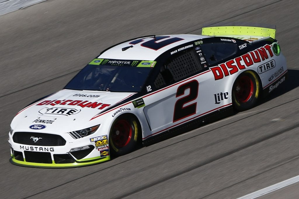 KANSAS CITY, KANSAS - OCTOBER 18: Brad Keselowski, driver of the #2 Discount Tire Ford, practices for the Monster Energy NASCAR Cup Series Hollywood Casino 400 at Kansas Speedway on October 18, 2019 in Kansas City, Kansas. (Photo by Jonathan Ferrey/Getty Images) | Getty Images
