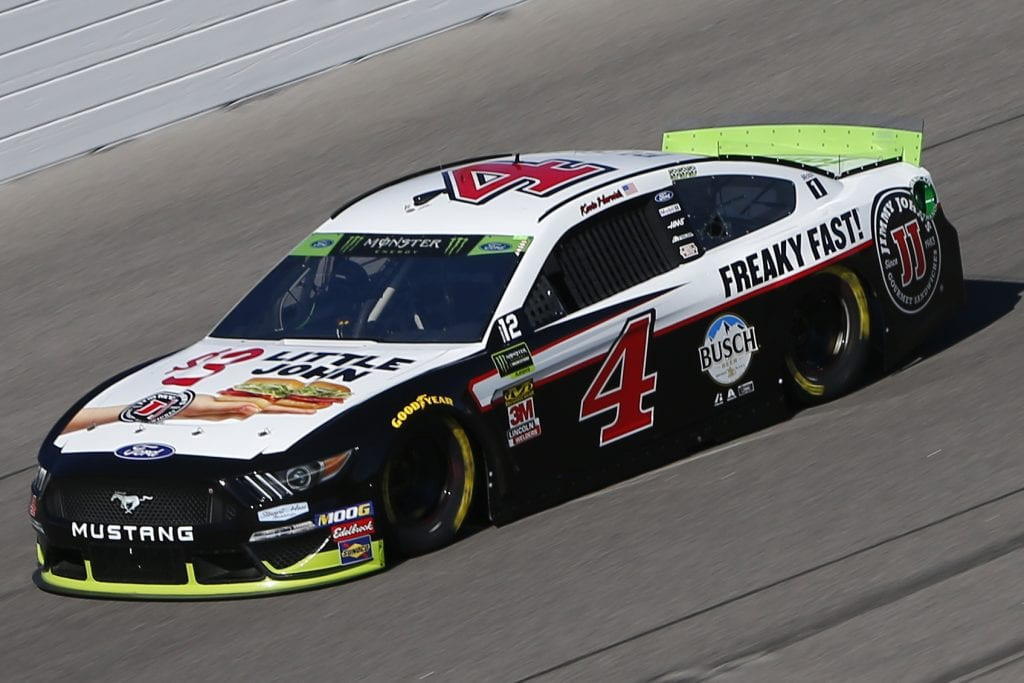 KANSAS CITY, KANSAS - OCTOBER 18: Kevin Harvick, driver of the #4 Jimmy John's 3 Dollar Little John Ford, practices for the Monster Energy NASCAR Cup Series Hollywood Casino 400 at Kansas Speedway on October 18, 2019 in Kansas City, Kansas. (Photo by Jonathan Ferrey/Getty Images) | Getty Images