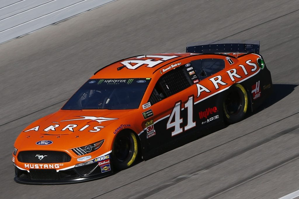 KANSAS CITY, KANSAS - OCTOBER 18: Daniel Suarez, driver of the #41 ARRIS Ford, practices for the Monster Energy NASCAR Cup Series Hollywood Casino 400 at Kansas Speedway on October 18, 2019 in Kansas City, Kansas. (Photo by Jonathan Ferrey/Getty Images) | Getty Images