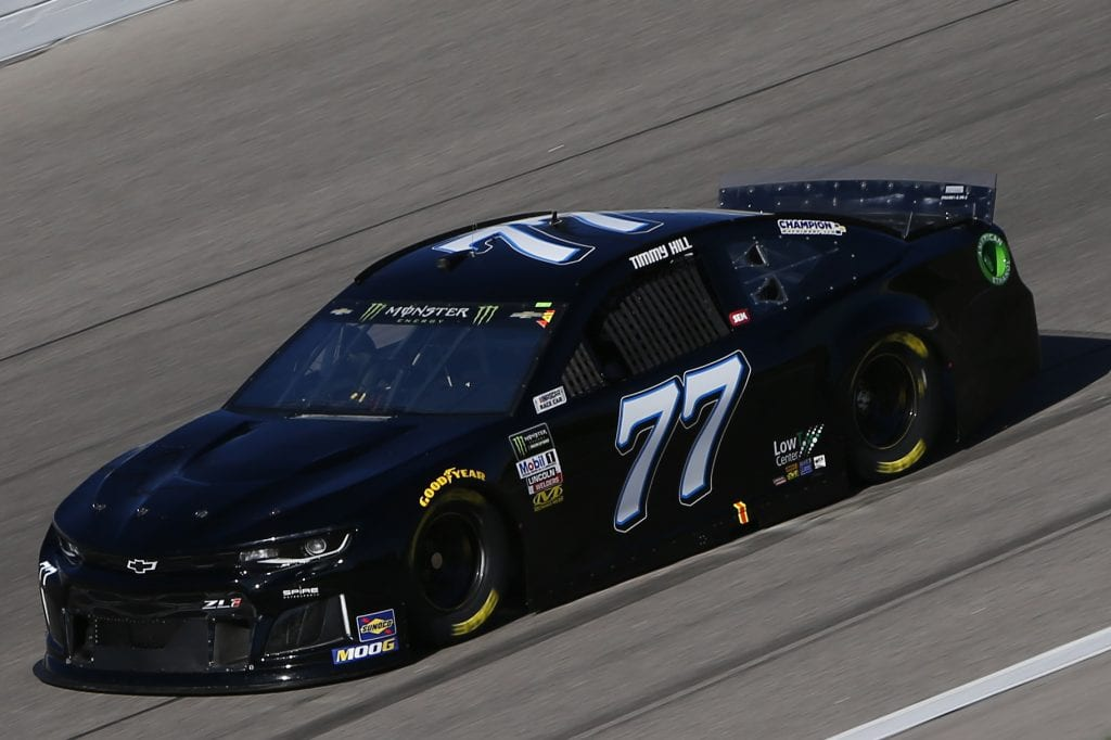KANSAS CITY, KANSAS - OCTOBER 18: Timmy Hill, driver of the #77 Chevrolet, practices for the Monster Energy NASCAR Cup Series Hollywood Casino 400 at Kansas Speedway on October 18, 2019 in Kansas City, Kansas. (Photo by Jonathan Ferrey/Getty Images) | Getty Images