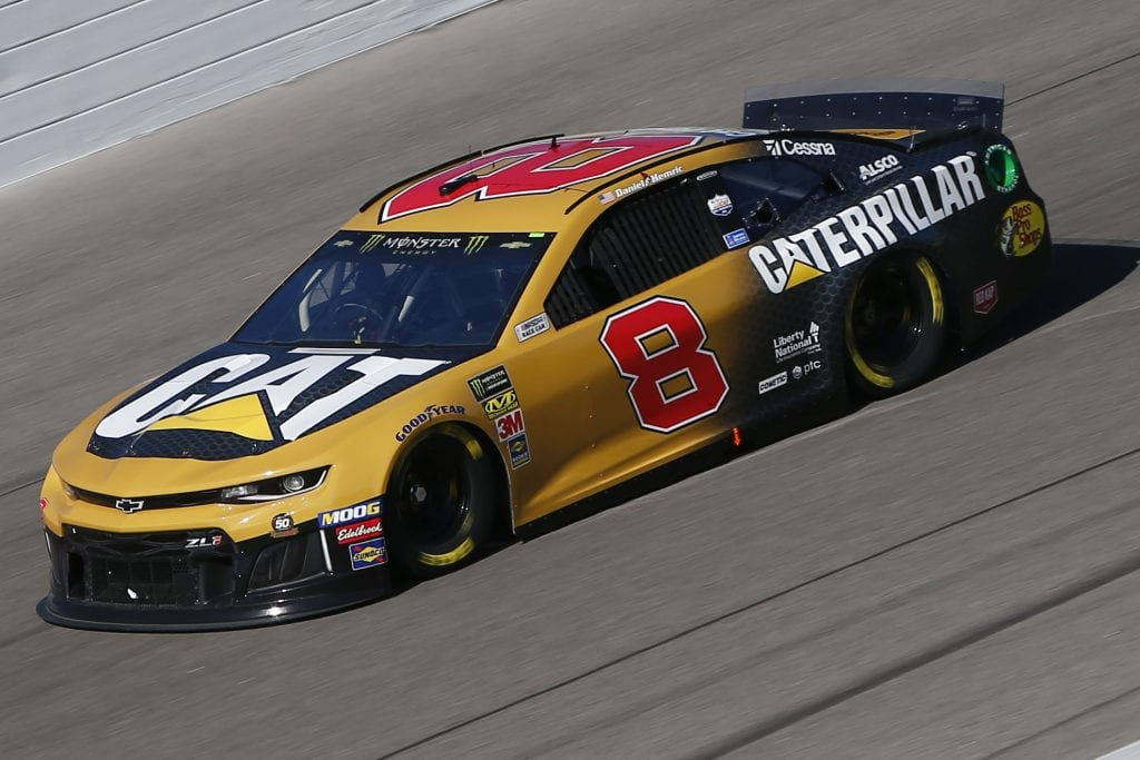 KANSAS CITY, KANSAS - OCTOBER 18: Daniel Hemric, driver of the #8 Caterpillar Chevrolet, practices for the Monster Energy NASCAR Cup Series Hollywood Casino 400 at Kansas Speedway on October 18, 2019 in Kansas City, Kansas. (Photo by Jonathan Ferrey/Getty Images) | Getty Images