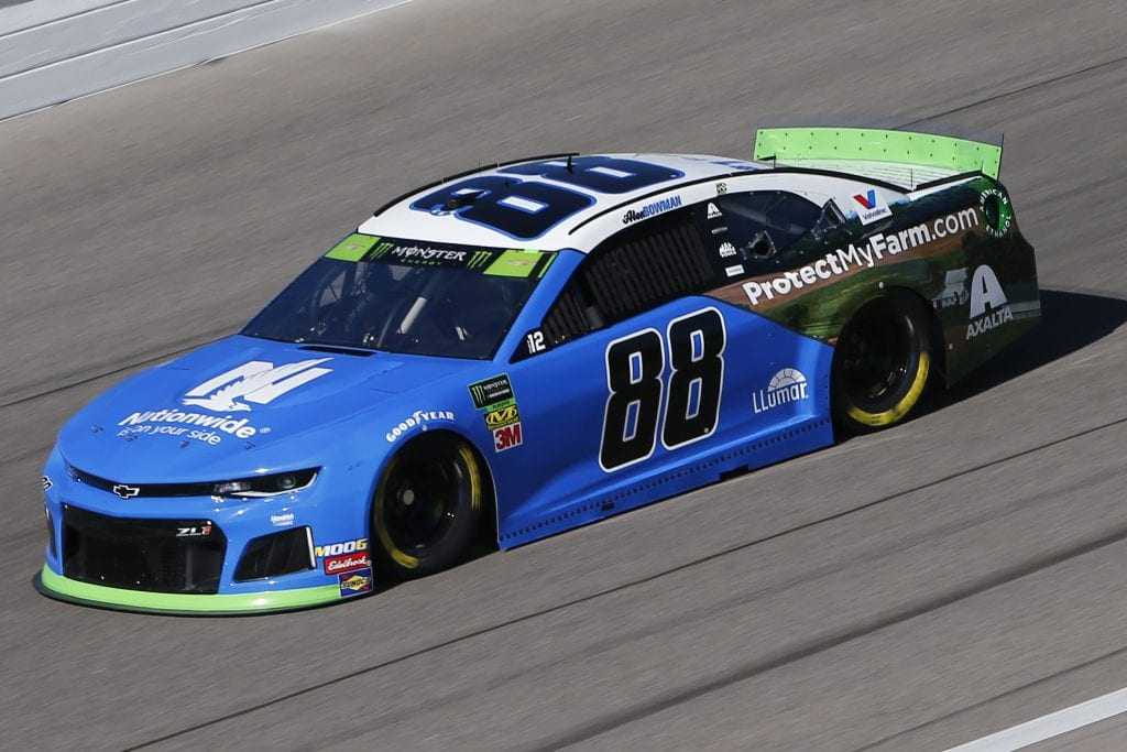 KANSAS CITY, KANSAS - OCTOBER 18: Alex Bowman, driver of the #88 Nationwide Chevrolet, practices for the Monster Energy NASCAR Cup Series Hollywood Casino 400 at Kansas Speedway on October 18, 2019 in Kansas City, Kansas. (Photo by Jonathan Ferrey/Getty Images) | Getty Images