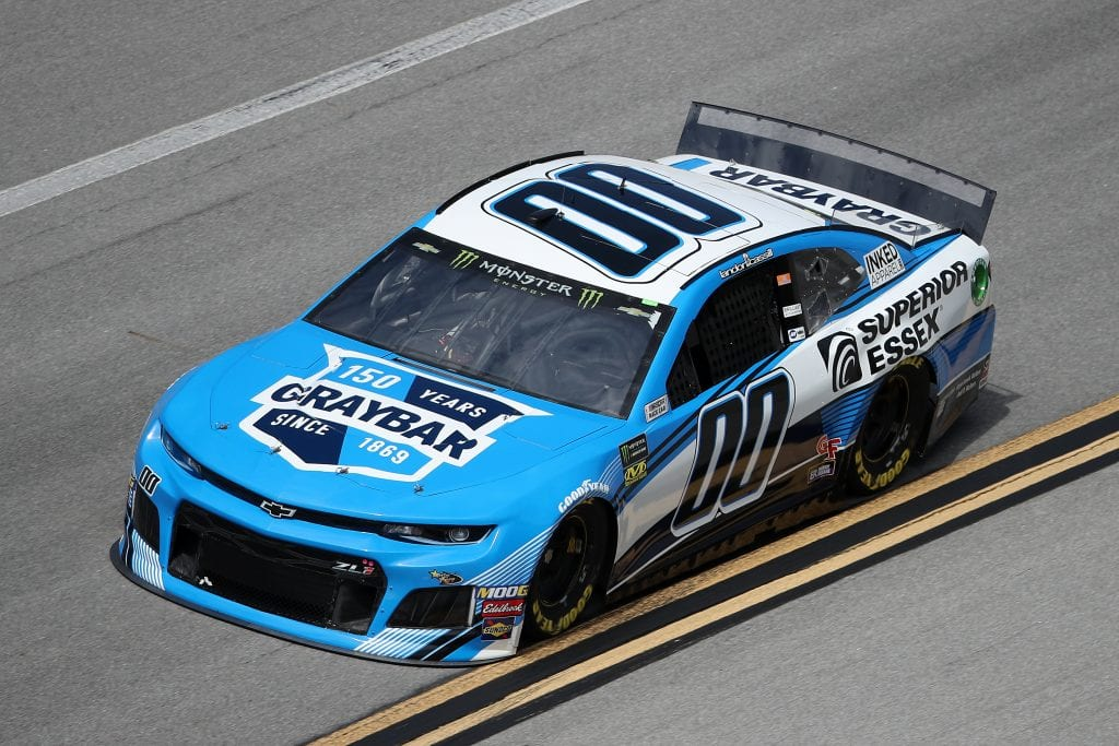 TALLADEGA, ALABAMA - OCTOBER 11: Landon Cassill, driver of the #00 Graybar/Superior Essex Chevrolet, during practice for the Monster Energy NASCAR Cup Series 1000Bulbs.com 500 at Talladega Superspeedway on October 11, 2019 in Talladega, Alabama. (Photo by Chris Graythen/Getty Images) | Getty Images