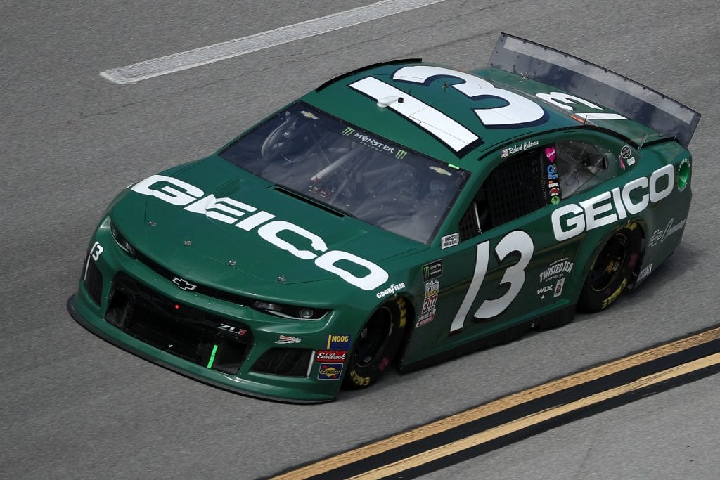 TALLADEGA, ALABAMA - OCTOBER 11: Ty Dillon, driver of the #13 GEICO Chevrolet, during practice for the Monster Energy NASCAR Cup Series 1000Bulbs.com 500 at Talladega Superspeedway on October 11, 2019 in Talladega, Alabama. (Photo by Chris Graythen/Getty Images) | Getty Images