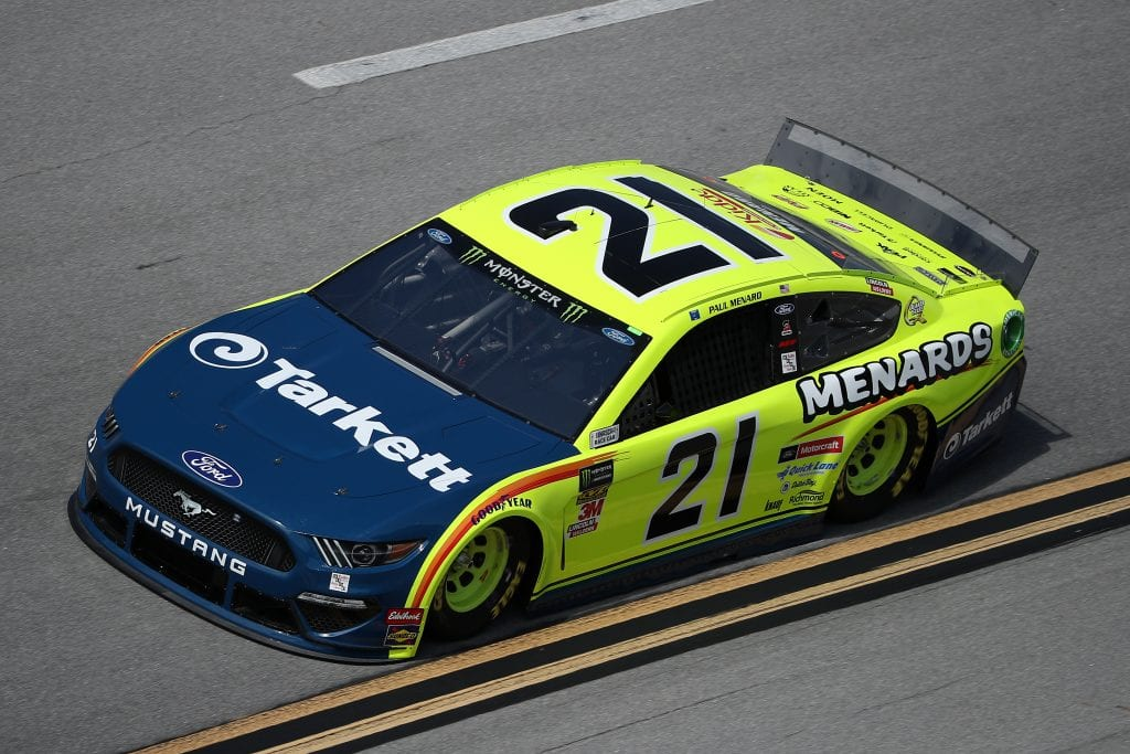 TALLADEGA, ALABAMA - OCTOBER 11: Paul Menard, driver of the #21 Menards/Tarkett Ford, during practice for the Monster Energy NASCAR Cup Series 1000Bulbs.com 500 at Talladega Superspeedway on October 11, 2019 in Talladega, Alabama. (Photo by Chris Graythen/Getty Images) | Getty Images