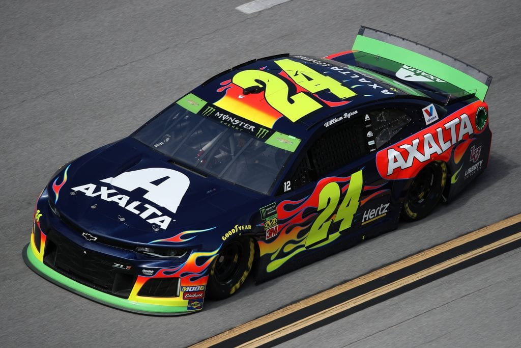 TALLADEGA, ALABAMA - OCTOBER 11: William Byron, driver of the #24 Axalta Chevrolet, during practice for the Monster Energy NASCAR Cup Series 1000Bulbs.com 500 at Talladega Superspeedway on October 11, 2019 in Talladega, Alabama. (Photo by Chris Graythen/Getty Images) | Getty Images