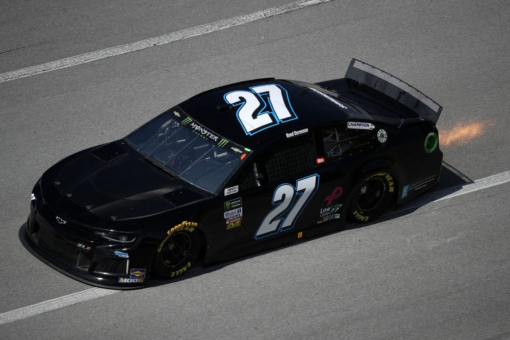 TALLADEGA, ALABAMA - OCTOBER 11: Reed Sorenson, driver of the #27 Chevrolet, during practice for the Monster Energy NASCAR Cup Series 1000Bulbs.com 500 at Talladega Superspeedway on October 11, 2019 in Talladega, Alabama. (Photo by Chris Graythen/Getty Images) | Getty Images