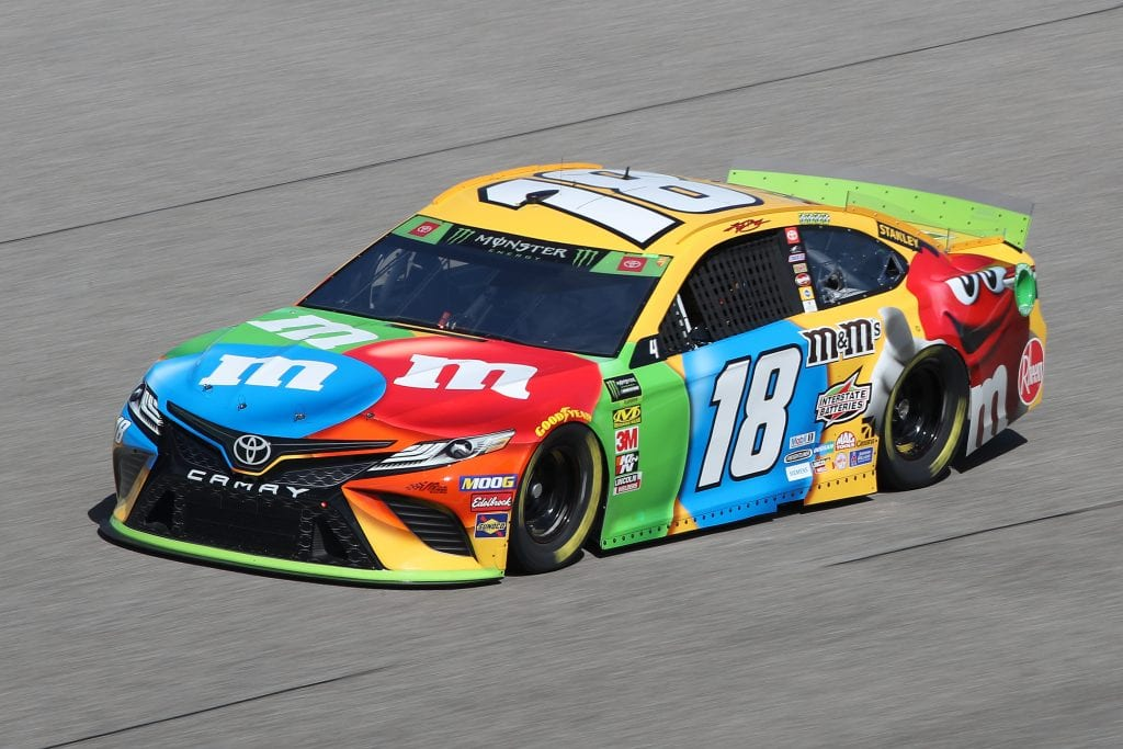 HOMESTEAD, FLORIDA - NOVEMBER 16: Kyle Busch, driver of the #18 M&M's Toyota, drives during practice for the Monster Energy NASCAR Cup Series Ford EcoBoost 400 at Homestead-Miami Speedway on November 16, 2019 in Homestead, Florida. (Photo by Chris Graythen/Getty Images) | Getty Images