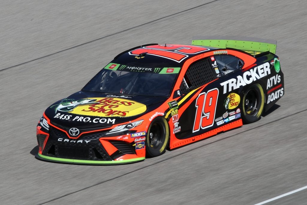 HOMESTEAD, FLORIDA - NOVEMBER 16: Martin Truex Jr., driver of the #19 Bass Pro Shops Toyota, drives during practice for the Monster Energy NASCAR Cup Series Ford EcoBoost 400 at Homestead-Miami Speedway on November 16, 2019 in Homestead, Florida. (Photo by Chris Graythen/Getty Images) | Getty Images