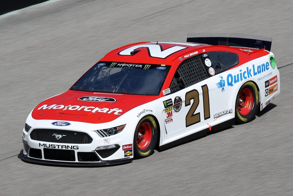 HOMESTEAD, FLORIDA - NOVEMBER 16: Paul Menard, driver of the #21 Motorcraft/Quick Lane Tire & Auto Center Ford, drives during practice for the Monster Energy NASCAR Cup Series Ford EcoBoost 400 at Homestead-Miami Speedway on November 16, 2019 in Homestead, Florida. (Photo by Chris Graythen/Getty Images) | Getty Images