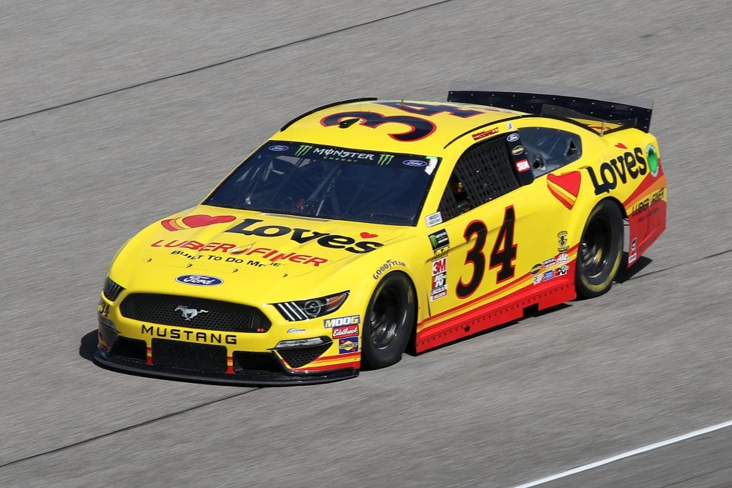 HOMESTEAD, FLORIDA - NOVEMBER 16: Michael McDowell, driver of the #34 Love's Travel Stops Ford, drives during practice for the Monster Energy NASCAR Cup Series Ford EcoBoost 400 at Homestead-Miami Speedway on November 16, 2019 in Homestead, Florida. (Photo by Chris Graythen/Getty Images) | Getty Images