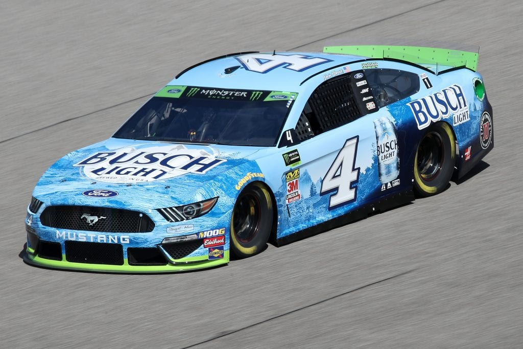 HOMESTEAD, FLORIDA - NOVEMBER 16: Kevin Harvick, driver of the #4 Busch Light Ford, drives during practice for the Monster Energy NASCAR Cup Series Ford EcoBoost 400 at Homestead-Miami Speedway on November 16, 2019 in Homestead, Florida. (Photo by Chris Graythen/Getty Images) | Getty Images