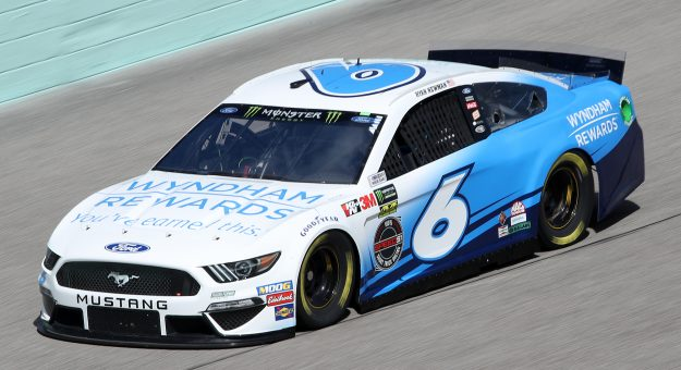HOMESTEAD, FLORIDA - NOVEMBER 16: Ryan Newman, driver of the #6 Wyndham Rewards Ford, drives during practice for the Monster Energy NASCAR Cup Series Ford EcoBoost 400 at Homestead-Miami Speedway on November 16, 2019 in Homestead, Florida. (Photo by Chris Graythen/Getty Images)   Getty Images