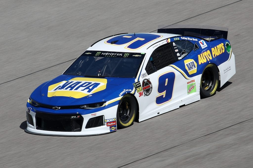 HOMESTEAD, FLORIDA - NOVEMBER 16: Chase Elliott, driver of the #9 NAPA Auto Parts Chevrolet, drives during practice for the Monster Energy NASCAR Cup Series Ford EcoBoost 400 at Homestead-Miami Speedway on November 16, 2019 in Homestead, Florida. (Photo by Chris Graythen/Getty Images) | Getty Images