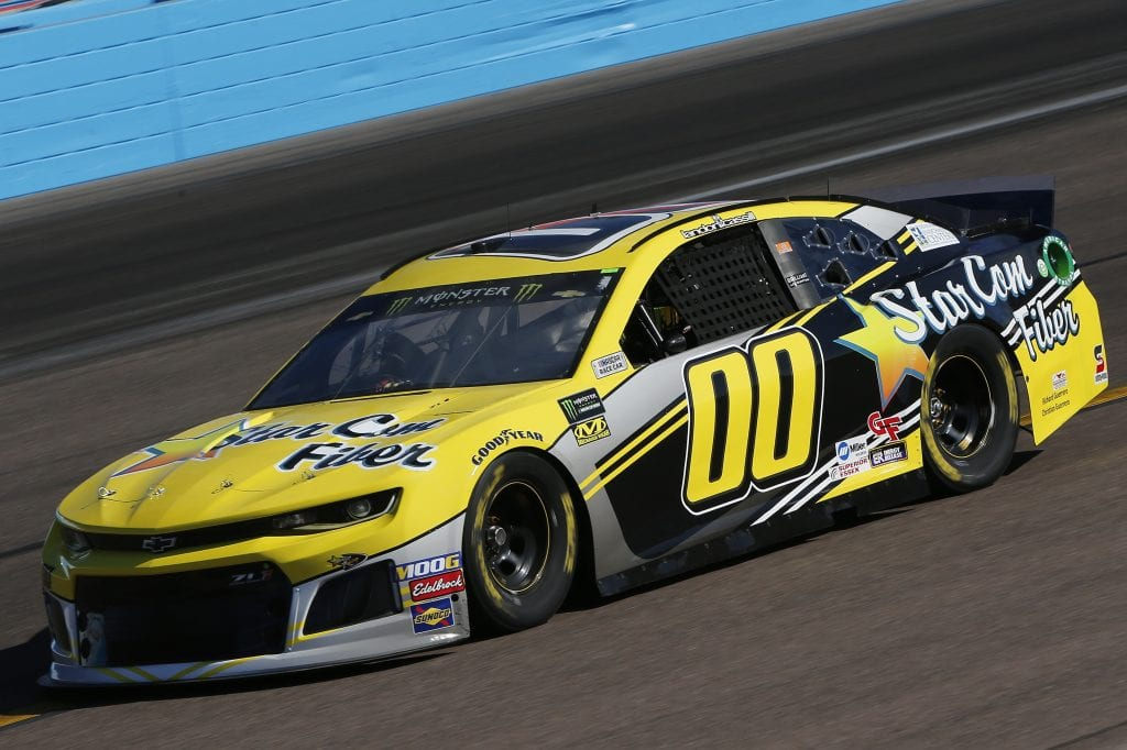 AVONDALE, ARIZONA - NOVEMBER 08: Landon Cassill, driver of the #00 StarCom Fiber Chevrolet, practices for the Monster Energy NASCAR Cup Series Bluegreen Vacations 500 at ISM Raceway on November 08, 2019 in Avondale, Arizona. (Photo by Jonathan Ferrey/Getty Images) | Getty Images