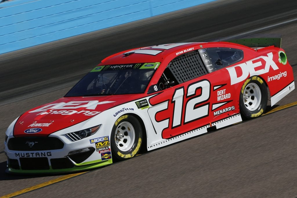 AVONDALE, ARIZONA - NOVEMBER 08: Ryan Blaney, driver of the #12 DEX Imaging Ford, practices for the Monster Energy NASCAR Cup Series Bluegreen Vacations 500 at ISM Raceway on November 08, 2019 in Avondale, Arizona. (Photo by Jonathan Ferrey/Getty Images) | Getty Images