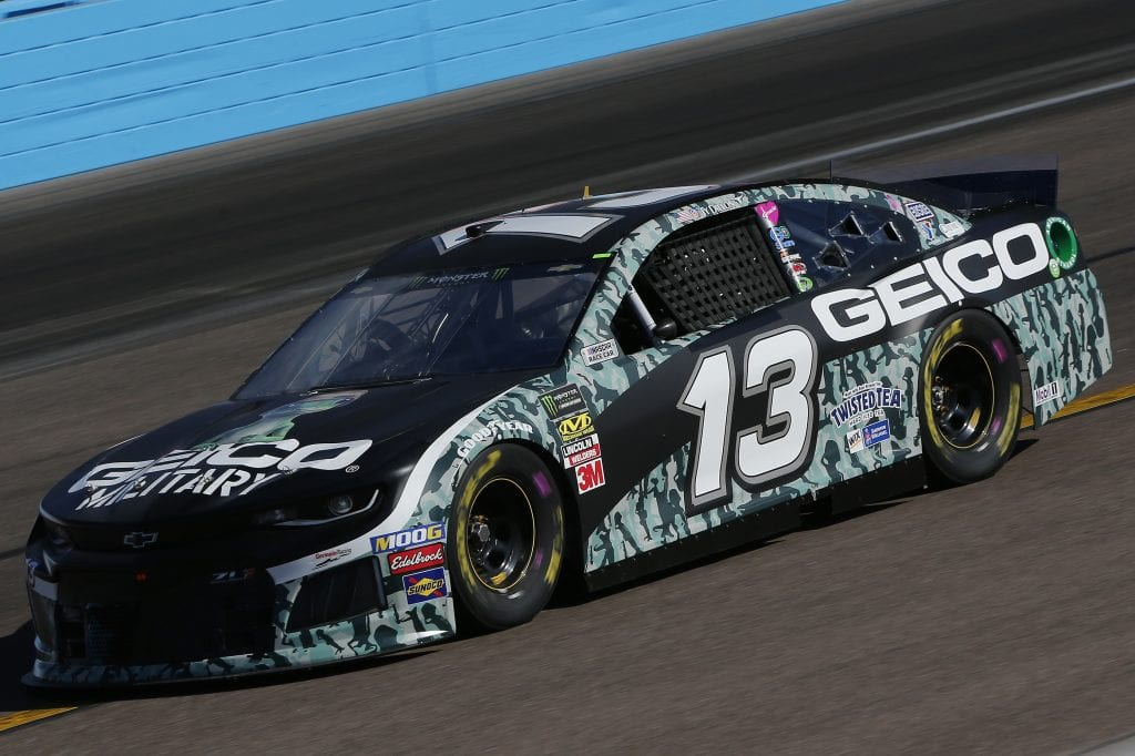 AVONDALE, ARIZONA - NOVEMBER 08: Ty Dillon, driver of the #13 GEICO Military Chevrolet, practices for the Monster Energy NASCAR Cup Series Bluegreen Vacations 500 at ISM Raceway on November 08, 2019 in Avondale, Arizona. (Photo by Jonathan Ferrey/Getty Images) | Getty Images