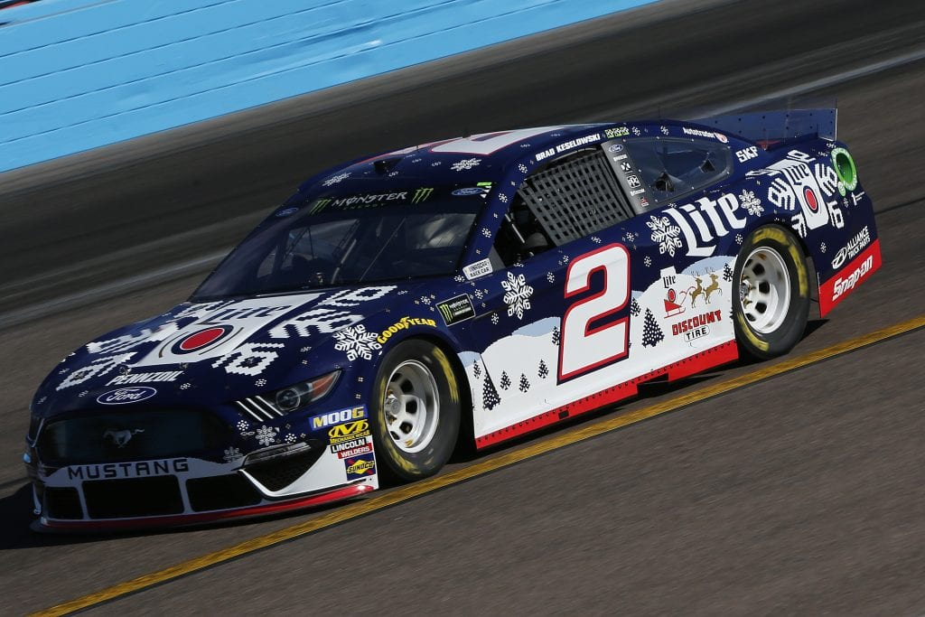 AVONDALE, ARIZONA - NOVEMBER 08: Brad Keselowski, driver of the #2 Miller Lite Ford, practices for the Monster Energy NASCAR Cup Series Bluegreen Vacations 500 at ISM Raceway on November 08, 2019 in Avondale, Arizona. (Photo by Jonathan Ferrey/Getty Images) | Getty Images