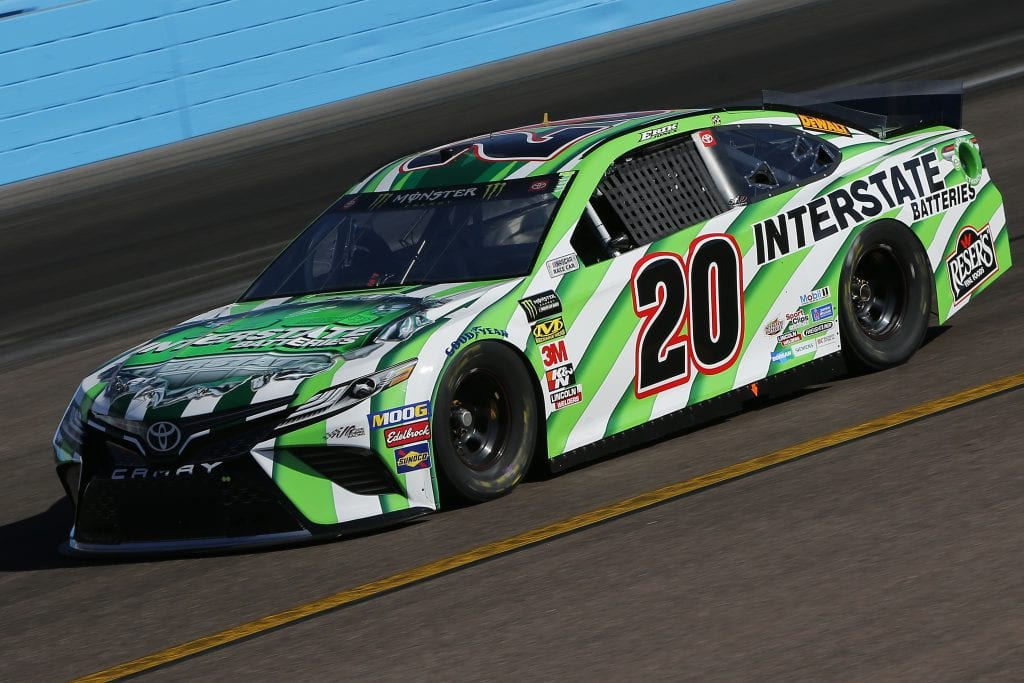 AVONDALE, ARIZONA - NOVEMBER 08: Erik Jones, driver of the #20 Interstate Batteries Toyota, practices for the Monster Energy NASCAR Cup Series Bluegreen Vacations 500 at ISM Raceway on November 08, 2019 in Avondale, Arizona. (Photo by Jonathan Ferrey/Getty Images) | Getty Images