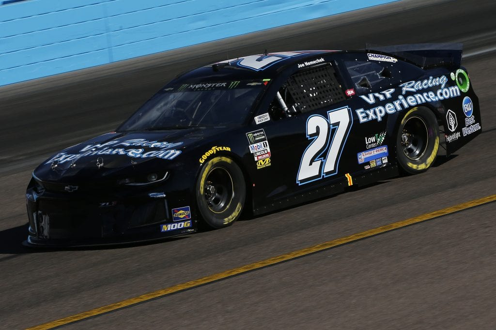 AVONDALE, ARIZONA - NOVEMBER 08: Joe Nemechek, driver of the #27 VIPRacingExperience.com Chevrolet, practices for the Monster Energy NASCAR Cup Series Bluegreen Vacations 500 at ISM Raceway on November 08, 2019 in Avondale, Arizona. (Photo by Jonathan Ferrey/Getty Images) | Getty Images