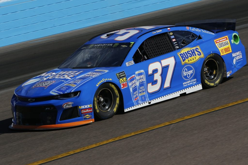 AVONDALE, ARIZONA - NOVEMBER 08: Chris Buescher, driver of the #37 Maxwell House Chevrolet, practices for the Monster Energy NASCAR Cup Series Bluegreen Vacations 500 at ISM Raceway on November 08, 2019 in Avondale, Arizona. (Photo by Jonathan Ferrey/Getty Images) | Getty Images