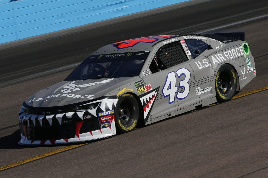 AVONDALE, ARIZONA - NOVEMBER 08: Bubba Wallace, driver of the #43 United States Air Force Chevrolet, practices for the Monster Energy NASCAR Cup Series Bluegreen Vacations 500 at ISM Raceway on November 08, 2019 in Avondale, Arizona. (Photo by Jonathan Ferrey/Getty Images) | Getty Images