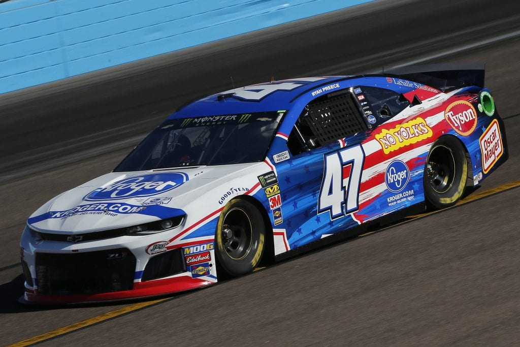 AVONDALE, ARIZONA - NOVEMBER 08: Ryan Preece, driver of the #47 Kroger Chevrolet,  practices for the Monster Energy NASCAR Cup Series Bluegreen Vacations 500 at ISM Raceway on November 08, 2019 in Avondale, Arizona. (Photo by Jonathan Ferrey/Getty Images) | Getty Images