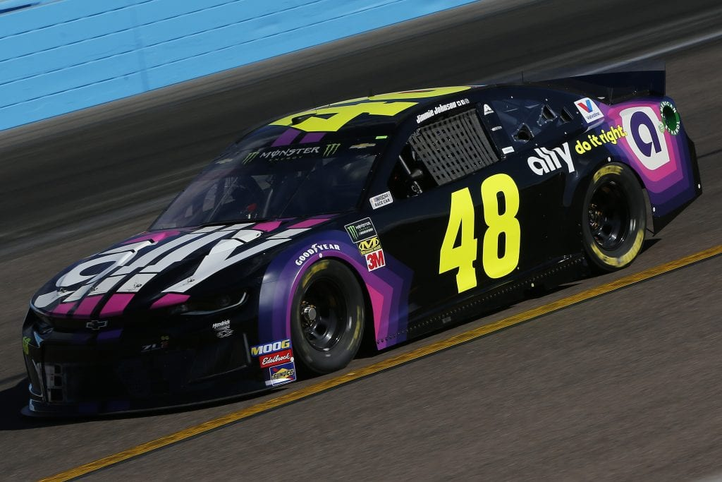 AVONDALE, ARIZONA - NOVEMBER 08: Jimmie Johnson, driver of the #48 Ally Chevrolet, practices for the Monster Energy NASCAR Cup Series Bluegreen Vacations 500 at ISM Raceway on November 08, 2019 in Avondale, Arizona. (Photo by Jonathan Ferrey/Getty Images) | Getty Images