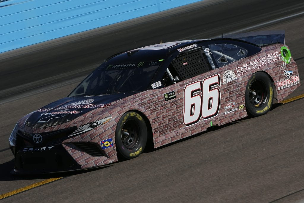AVONDALE, ARIZONA - NOVEMBER 08: Joey Gase, driver of the #66 Fan Memories at WGI Toyota, practices for the Monster Energy NASCAR Cup Series Bluegreen Vacations 500 at ISM Raceway on November 08, 2019 in Avondale, Arizona. (Photo by Jonathan Ferrey/Getty Images) | Getty Images