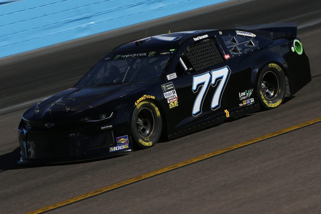 AVONDALE, ARIZONA - NOVEMBER 08: Reed Sorenson, driver of the #77 Spire Motorsports Chevrolet, practices for the Monster Energy NASCAR Cup Series Bluegreen Vacations 500 at ISM Raceway on November 08, 2019 in Avondale, Arizona. (Photo by Jonathan Ferrey/Getty Images) | Getty Images