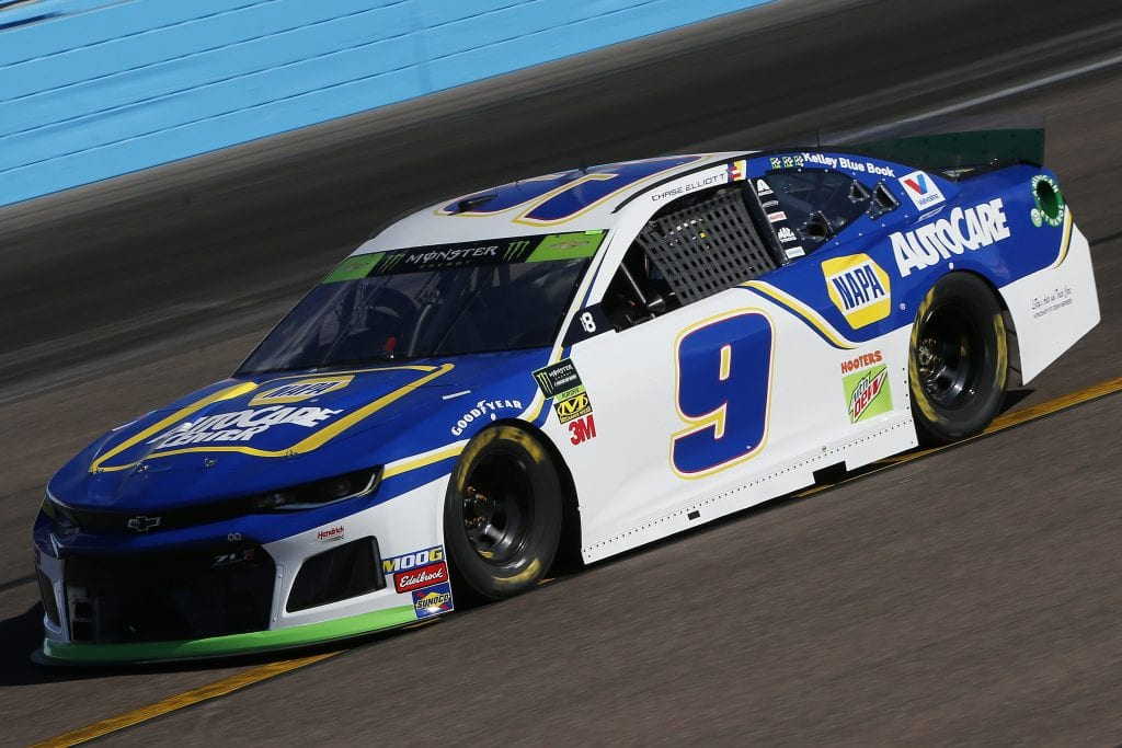 AVONDALE, ARIZONA - NOVEMBER 08: Chase Elliott, driver of the #9 NAPA Autocare Center Chevrolet, practices for the Monster Energy NASCAR Cup Series Bluegreen Vacations 500 at ISM Raceway on November 08, 2019 in Avondale, Arizona. (Photo by Jonathan Ferrey/Getty Images) | Getty Images