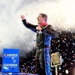 PHOENIX, ARIZONA - NOVEMBER 08: Stewart Friesen, driver of the #52 Halmar International Chevrolet, celebrates in Victory Lane after winning the NASCAR Gander Outdoors Truck Series Lucas Oil 150 at ISM Raceway in Phoenix on November 08, 2019 in Phoenix, Arizona. (Photo by Jared C. Tilton/Getty Images) | Getty Images