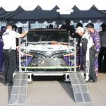 AVONDALE, ARIZONA - NOVEMBER 10: The car of Denny Hamlin, driver of the #11 FedEx Ground Toyota, goes through technical inspection after winning the Monster Energy NASCAR Cup Series Bluegreen Vacations 500 at ISM Raceway on November 10, 2019 in Avondale, Arizona. (Photo by Matt Sullivan/Getty Images) | Getty Images
