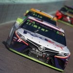 HOMESTEAD, FLORIDA - NOVEMBER 17: Denny Hamlin, driver of the #11 FedEx Express Toyota, leads a pack of cars during the Monster Energy NASCAR Cup Series Ford EcoBoost 400 at Homestead Speedway on November 17, 2019 in Homestead, Florida. (Photo by Brian Lawdermilk/Getty Images) | Getty Images