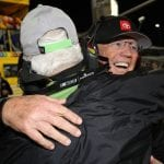 HOMESTEAD, FLORIDA - NOVEMBER 17: Team owner Joe Gibbs of Kyle Busch, driver of the #18 M&M's Toyota, celebrates after winning the championship and the Monster Energy NASCAR Cup Series Ford EcoBoost 400 at Homestead Speedway on November 17, 2019 in Homestead, Florida. (Photo by Chris Graythen/Getty Images) | Getty Images