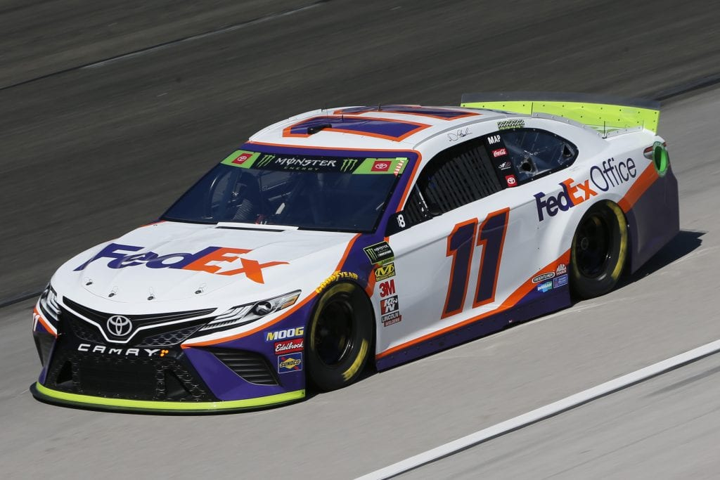 FORT WORTH, TEXAS - NOVEMBER 01: Denny Hamlin, driver of the #11 FedEx Office Toyota, practices for the Monster Energy NASCAR Cup Series AAA Texas 500 at Texas Motor Speedway on November 01, 2019 in Fort Worth, Texas. (Photo by Jonathan Ferrey/Getty Images) | Getty Images
