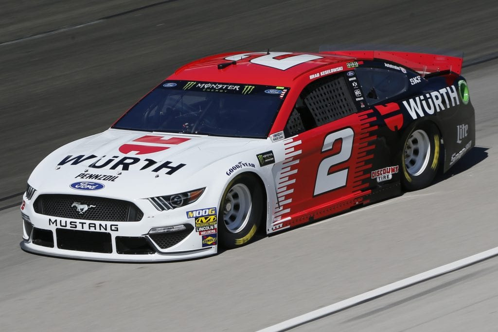 FORT WORTH, TEXAS - NOVEMBER 01: Brad Keselowski, driver of the #2 Wurth Ford, practices for the Monster Energy NASCAR Cup Series AAA Texas 500 at Texas Motor Speedway on November 01, 2019 in Fort Worth, Texas. (Photo by Jonathan Ferrey/Getty Images) | Getty Images