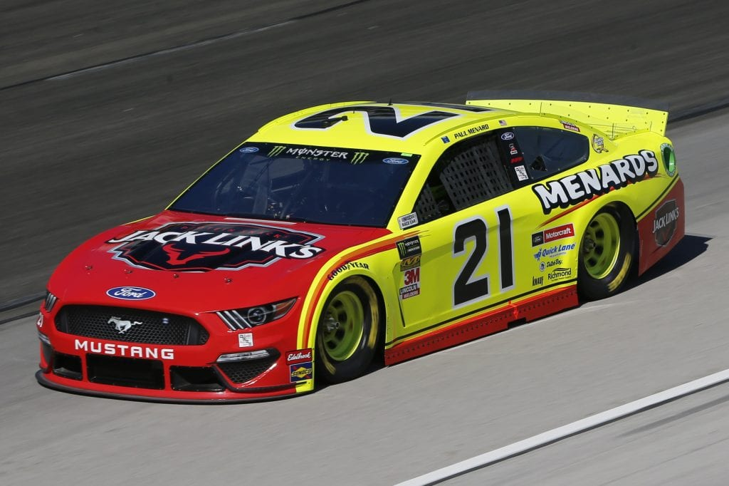 FORT WORTH, TEXAS - NOVEMBER 01: Paul Menard, driver of the #21 Menards/Jack Links Ford, practices for the Monster Energy NASCAR Cup Series AAA Texas 500 at Texas Motor Speedway on November 01, 2019 in Fort Worth, Texas. (Photo by Jonathan Ferrey/Getty Images) | Getty Images