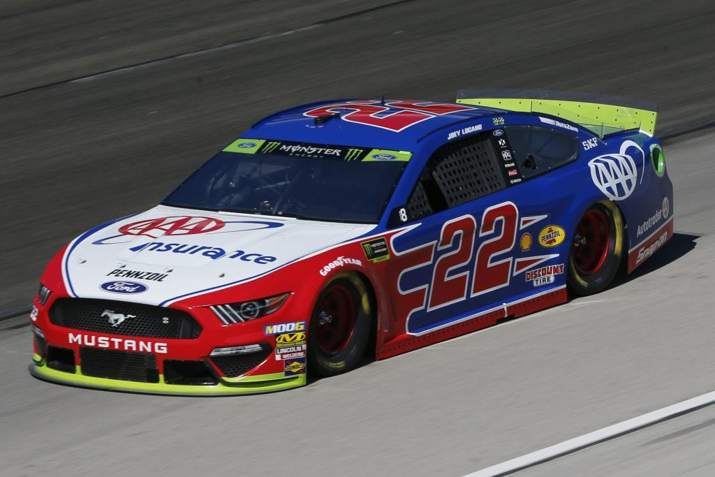 FORT WORTH, TEXAS - NOVEMBER 01: Joey Logano, driver of the #22 AAA Insurance Ford, practices for the Monster Energy NASCAR Cup Series AAA Texas 500 at Texas Motor Speedway on November 01, 2019 in Fort Worth, Texas. (Photo by Jonathan Ferrey/Getty Images) | Getty Images