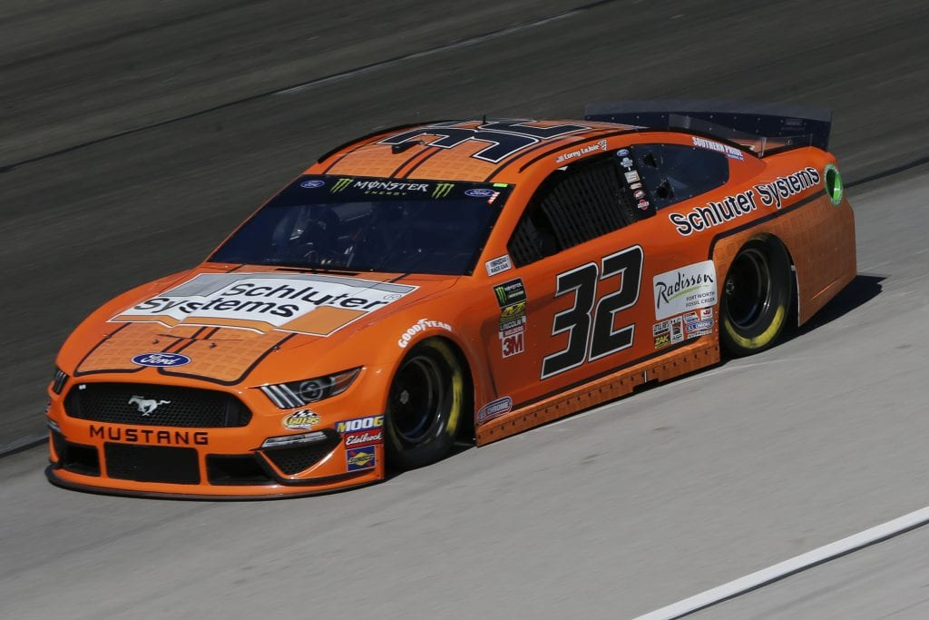 FORT WORTH, TEXAS - NOVEMBER 01: Corey LaJoie, driver of the #32 Schluter Systems Ford, practices for the Monster Energy NASCAR Cup Series AAA Texas 500 at Texas Motor Speedway on November 01, 2019 in Fort Worth, Texas. (Photo by Jonathan Ferrey/Getty Images) | Getty Images