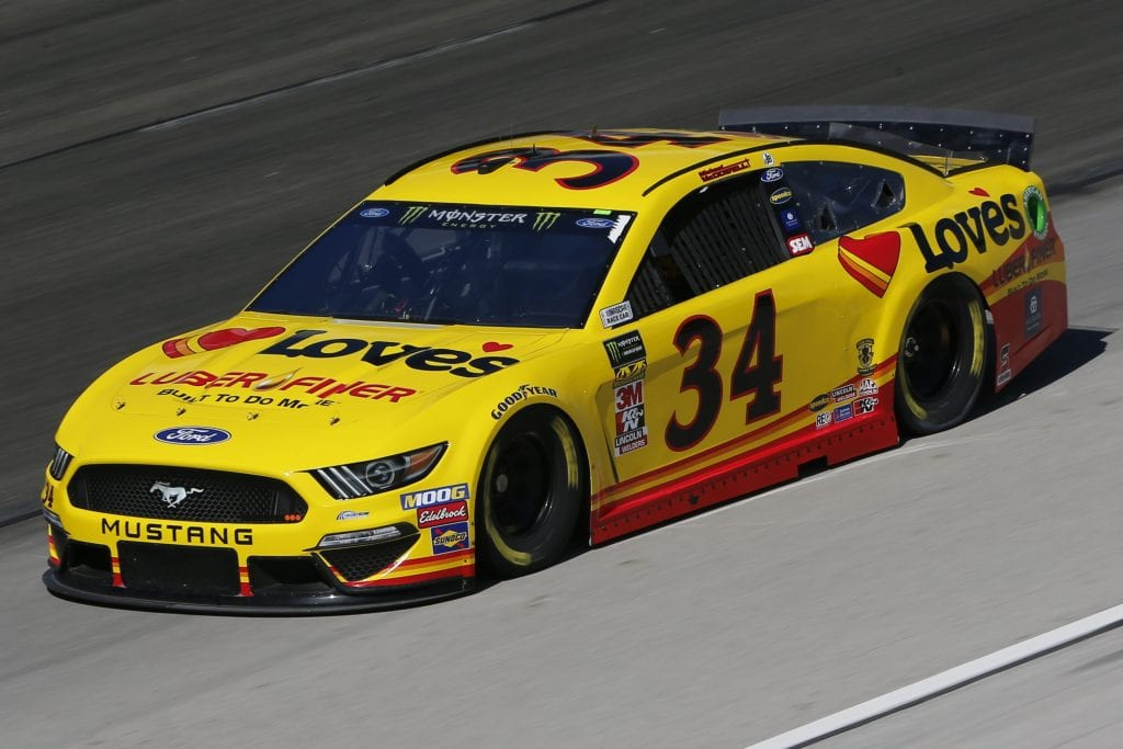 FORT WORTH, TEXAS - NOVEMBER 01: Michael McDowell, driver of the #34 Love's Travel Stops Ford, practices for the Monster Energy NASCAR Cup Series AAA Texas 500 at Texas Motor Speedway on November 01, 2019 in Fort Worth, Texas. (Photo by Jonathan Ferrey/Getty Images) | Getty Images