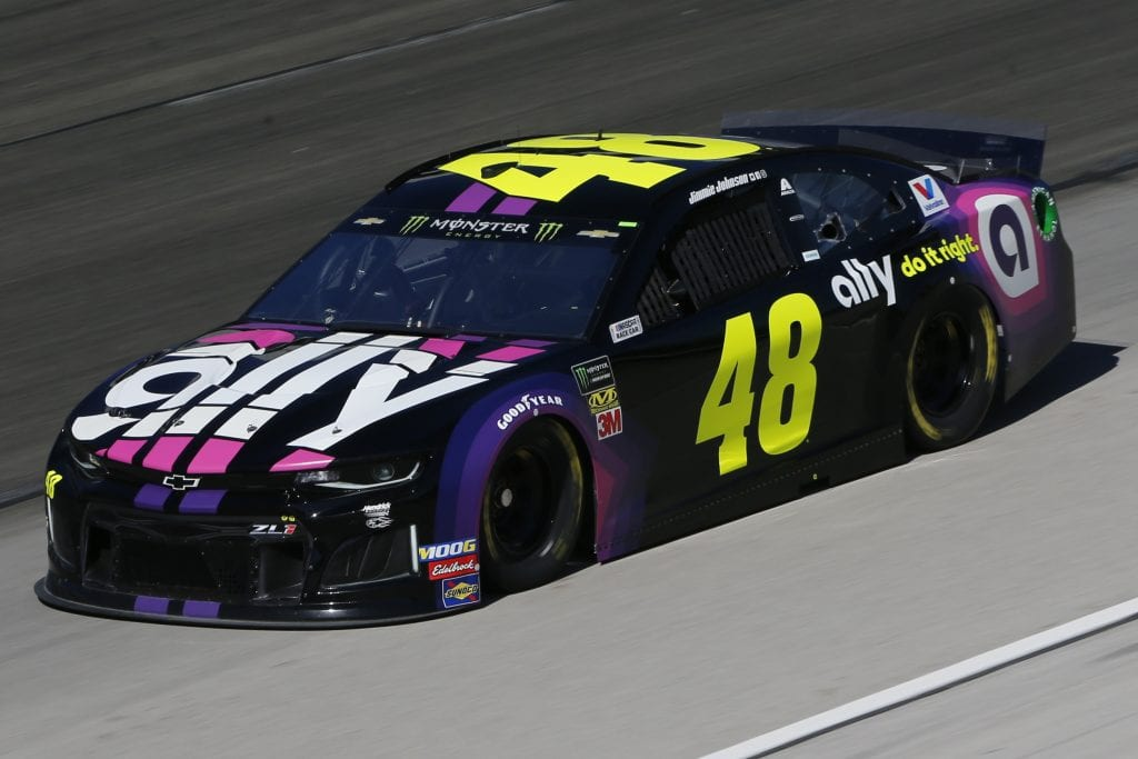 FORT WORTH, TEXAS - NOVEMBER 01: Jimmie Johnson, driver of the #48 Ally Chevrolet, practices for the Monster Energy NASCAR Cup Series AAA Texas 500 at Texas Motor Speedway on November 01, 2019 in Fort Worth, Texas. (Photo by Jonathan Ferrey/Getty Images) | Getty Images