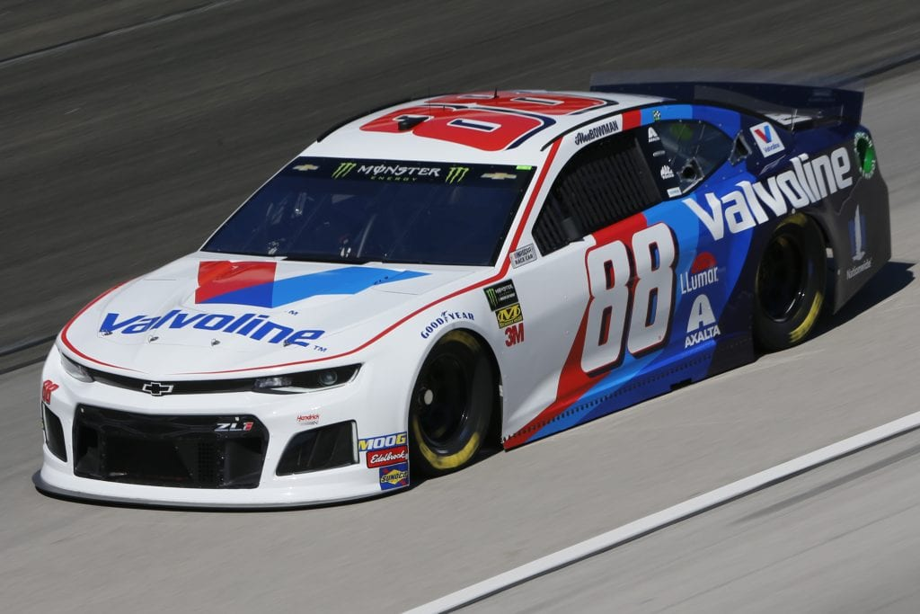 FORT WORTH, TEXAS - NOVEMBER 01: Alex Bowman, driver of the #88 Valvoline Chevrolet, practices for the Monster Energy NASCAR Cup Series AAA Texas 500 at Texas Motor Speedway on November 01, 2019 in Fort Worth, Texas. (Photo by Jonathan Ferrey/Getty Images) | Getty Images