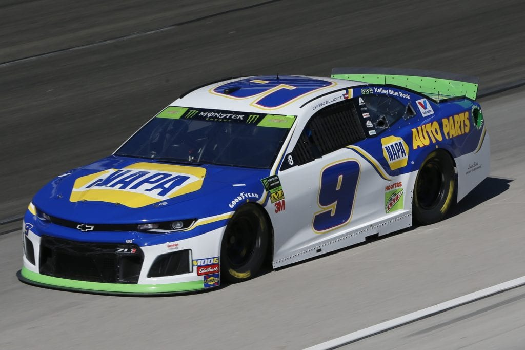 FORT WORTH, TEXAS - NOVEMBER 01: Chase Elliott, driver of the #9 NAPA Auto Parts Chevrolet, practices for the Monster Energy NASCAR Cup Series AAA Texas 500 at Texas Motor Speedway on November 01, 2019 in Fort Worth, Texas. (Photo by Jonathan Ferrey/Getty Images) | Getty Images