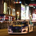 NASHVILLE, TENNESSEE - DECEMBER 04: Chase Elliott drives during the Monster Energy NASCAR Cup Series Burnouts on Broadway on December 04, 2019 in Nashville, Tennessee. (Photo by Chris Graythen/Getty Images) | Getty Images