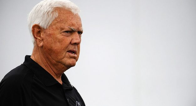 GREENVILLE, SC - SEPTEMBER 05:  NASCAR Hall of Fame member Junior Johnson stands in the garage area, prior to the NASCAR K&N Series Kevin Whitaker 140, held at Greenville Pickens Speedway on September 5, 2011 in Greenville, South Carolina. The event was postponed due to weather and re-scheduled for September 10th.  (Photo by Jason Smith/Getty Images for NASCAR) | Getty Images
