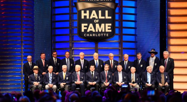 CHARLOTTE, NORTH CAROLINA - JANUARY 31: A general view of the NASCAR Hall of Famers following the 2020 NASCAR Hall of Fame Induction Ceremony at Charlotte Convention Center on January 31, 2020 in Charlotte, North Carolina. (Photo by Jared C. Tilton/Getty Images) | Getty Images