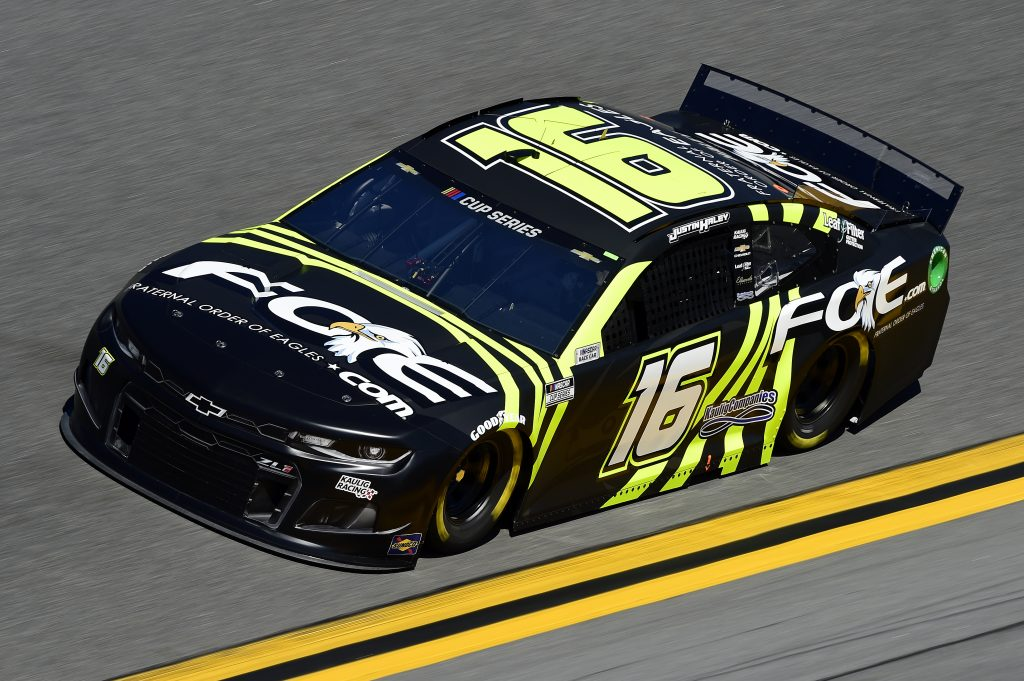 DAYTONA BEACH, FLORIDA - FEBRUARY 08: Justin Haley, driver of the #16 Fraternal Order of Eagles Chevrolet, practices for the NASCAR Cup Series 62nd Annual Daytona 500 at Daytona International Speedway on February 08, 2020 in Daytona Beach, Florida. (Photo by Jared C. Tilton/Getty Images) | Getty Images